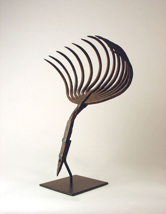 Sculptural Clam Rake on Museum Mount