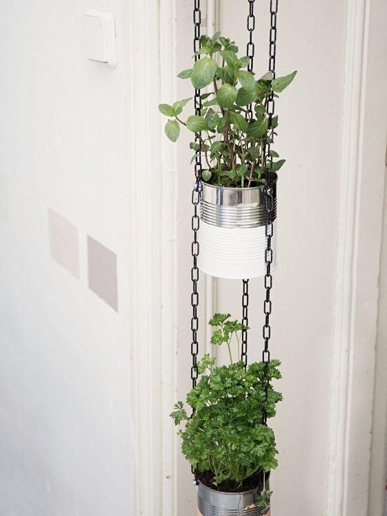 DIY-Anleitung: Blumenampel aus Dosen bauen - schritt für schritt - phototutorial