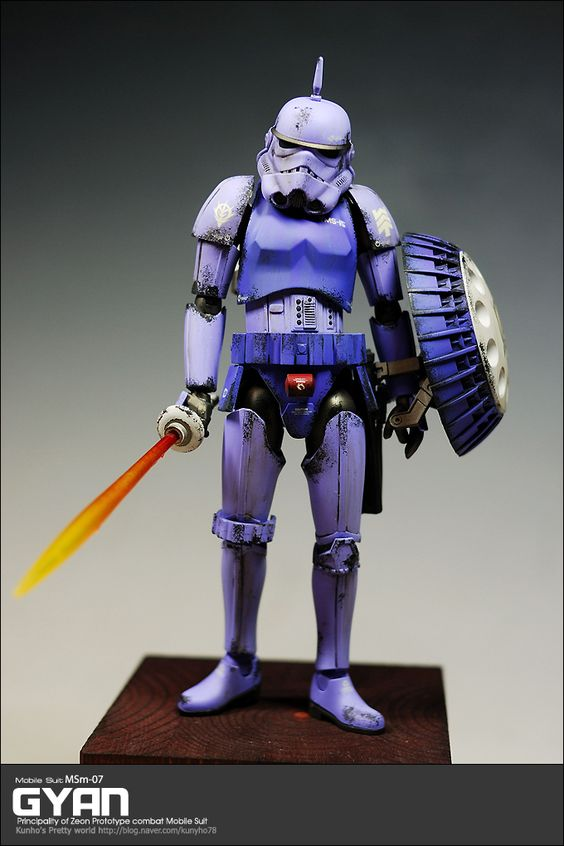 GUNDAM GUY: Gundam x Star Wars: 1/12 Scale Gyan Stormtrooper - Custom Build