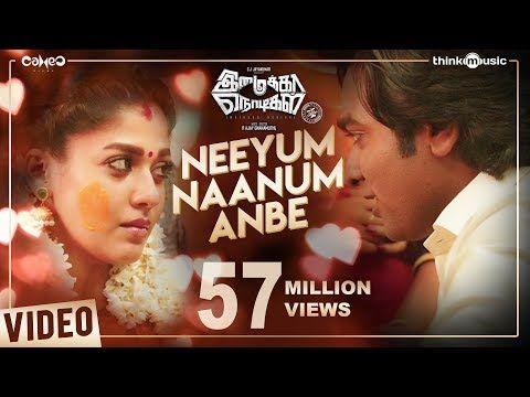 Imaikkaa Nodigal Neeyum Naanum Anbe Video Song Vijay Sethupathi Nayanthara Hiphop Tamizha Youtube Lagu Hip Hop Video
