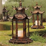 Cool pagoda lantern from Gumps.
