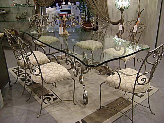 Table repas fer forgé rectangulaire Corinthe
