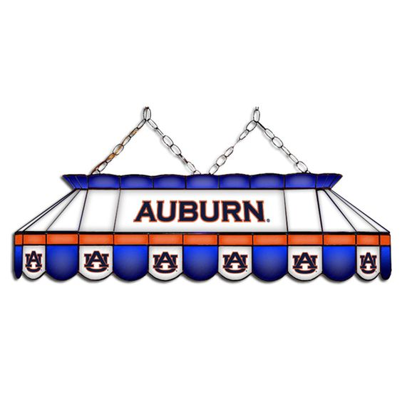 Auburn Tigers MVP Stained Glass Lamp