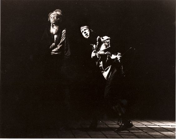 Julian Lopez-Morillas and Howard Swain as Lear and Fool in King Lear, 1991 #calshakes40th