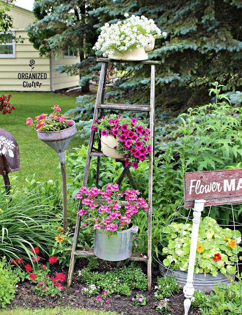 Progress In The Junk Garden July 1st Garden Junk Garden Decor Container Gardening