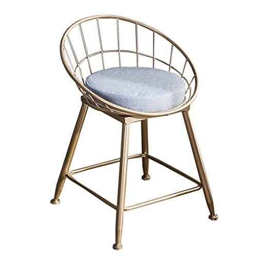 Xueb Barstools Modern Barstools Chair With Backrest Footrest High Stool Fabric Seat Dining Chairs Industrial Bar Stools Industrial Bar Stools Metals High Stool