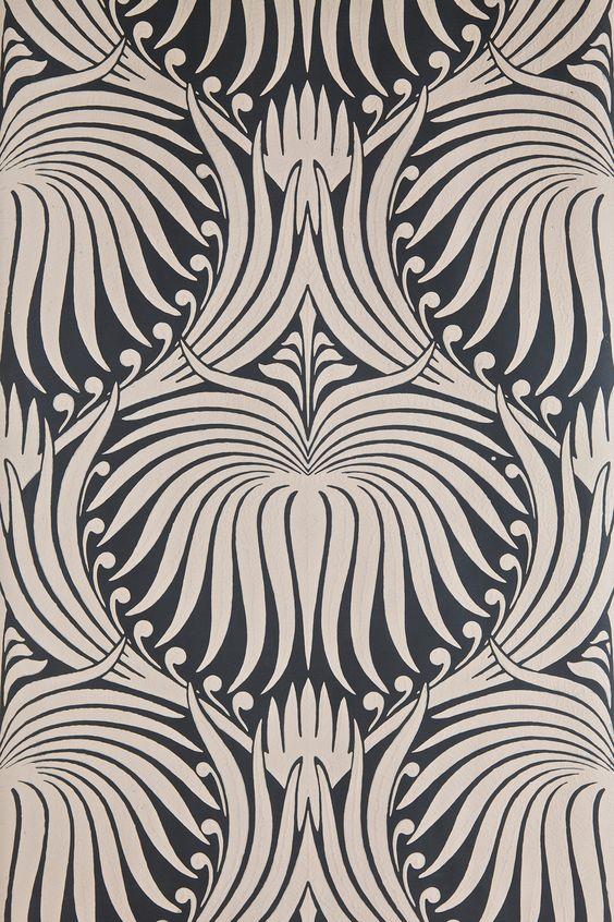 Farrow & Ball - Lotus BP 2017. Love how Art Deco this feels.