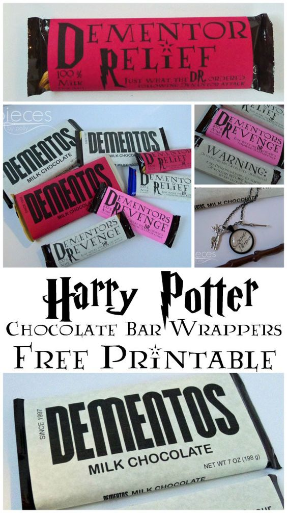 Wrap up your chocolate bars with these free printables for Harry Potter stocking stuffers!