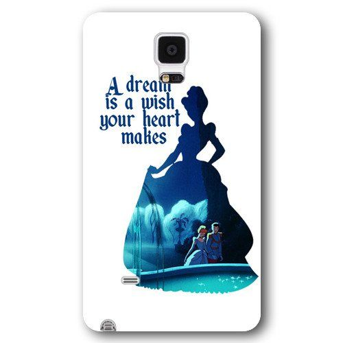 Customized White Frosted Disney Princess Cinderella Samsung Galaxy Note 4 Case