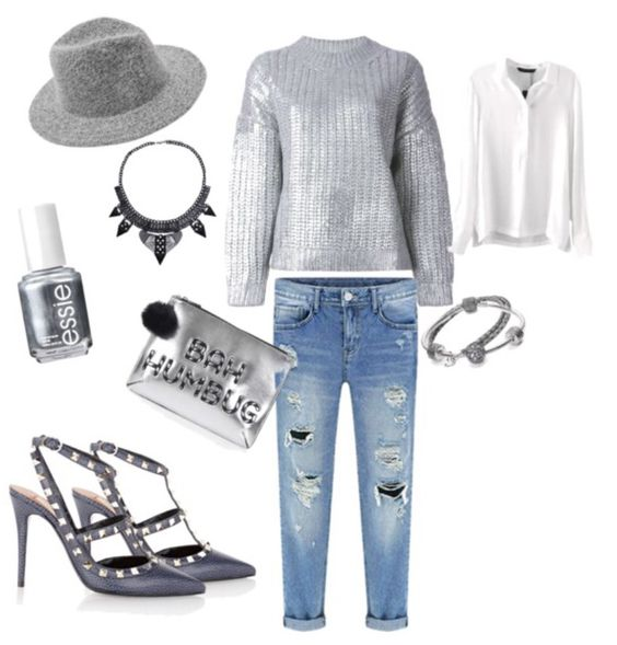 Follow elisa-vitale on polyvore #argento #silver #valentino #jeans #denim #gray #grigio #hat #cappelli #fashion