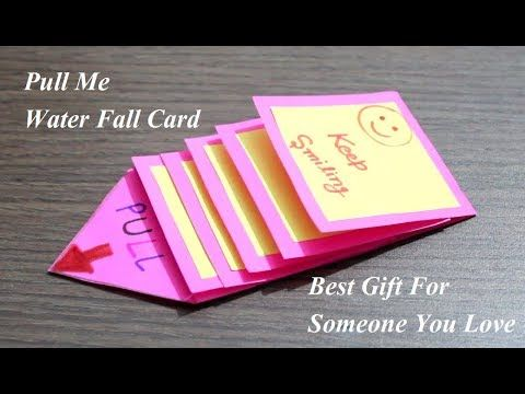 Diy Water Fall Card Pull Me Waterfall Card Best Gift Card Youtube Waterfall Cards Fall Cards Best Gift Cards