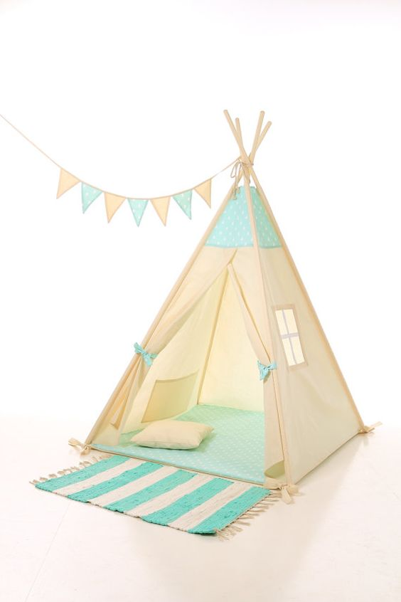 kids teepee play tent wigwam children 39 s teepee tipi kids. Black Bedroom Furniture Sets. Home Design Ideas