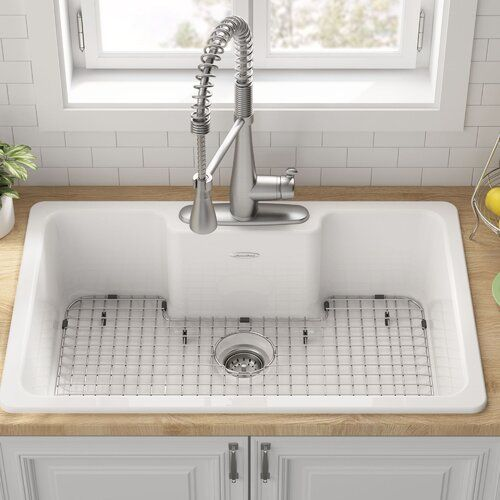 Quince 33 L X 22 W Drop In Kitchen Sink Drop In Kitchen Sink Sink Single Bowl Kitchen Sink