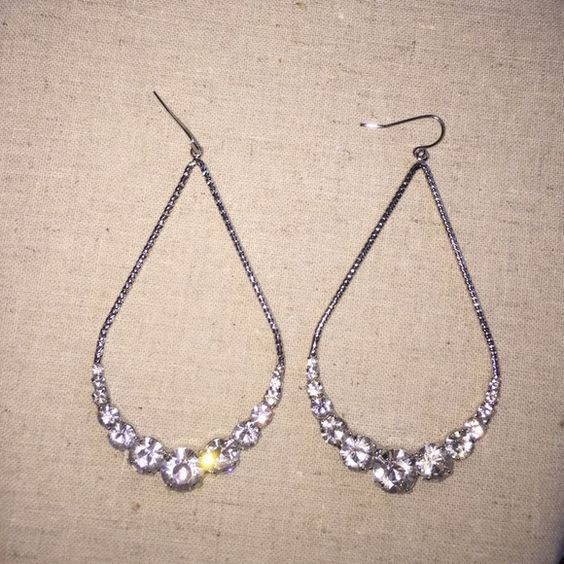 Ann Taylor earrings Silver earrings perfect for special event or pageant. Ann Taylor Jewelry Earrings