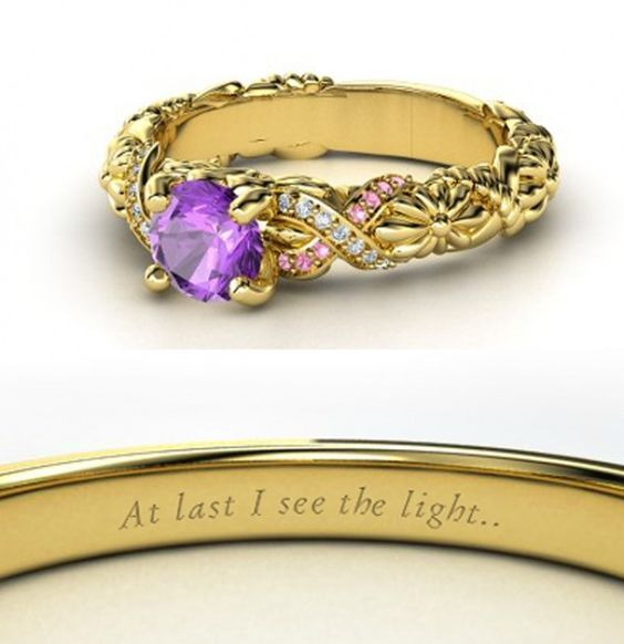 This is beautiful!!! Rapunzel inspired engagement ring.