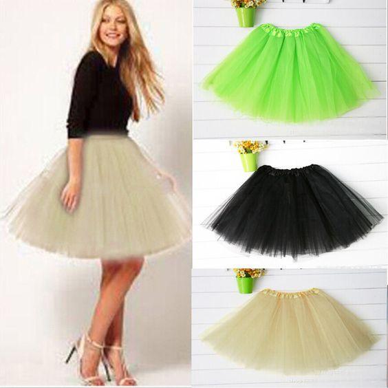 2015 Women Girl Pretty Elastic Stretchy Tulle Teen 3 Layer Adult Tutu Skirt - http://www.freshinstyle.com/products/2015-women-girl-pretty-elastic-stretchy-tulle-teen-3-layer-adult-tutu-skirt/