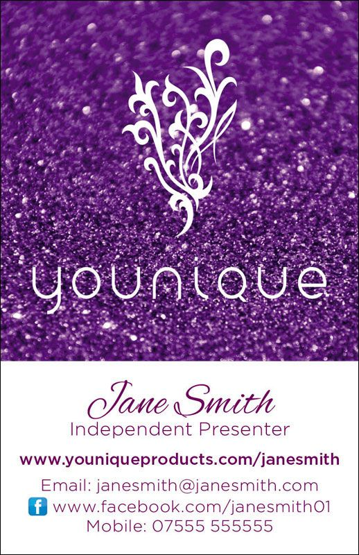 Younique Glitter Business Cards Portrait Cool Glitter Business Cards Younique Younique Makeup