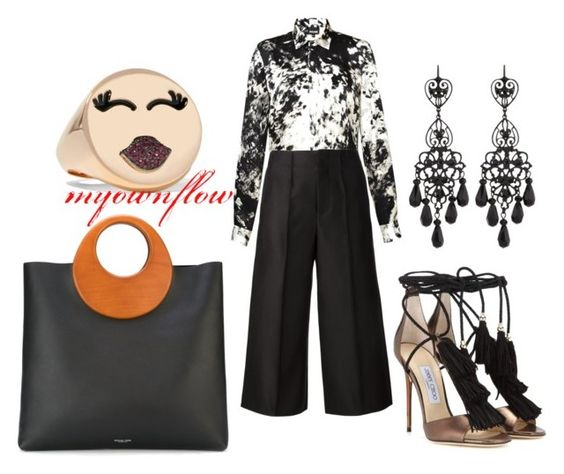 """""""TOO SEXY FOR THIS RING"""" by myownflow on Polyvore featuring Just Cavalli, CO, Jimmy Choo, Michael Kors, Jose & Maria Barrera and Alison Lou"""