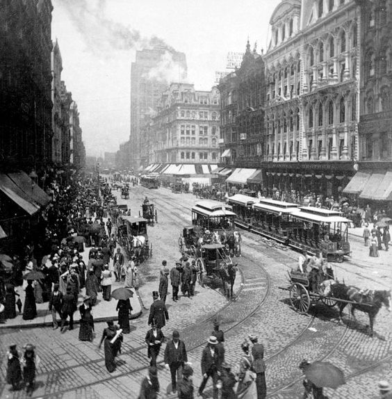 chicago Illinois  Photograph - State Street - Chicago Illinois - C 1893 by International  Images