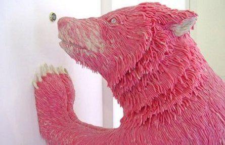 Pink gum sculpture