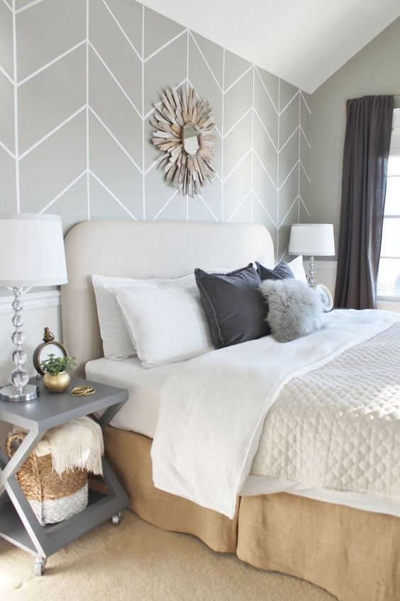 neutral bedroom decor grey white tan cream beige slate gold