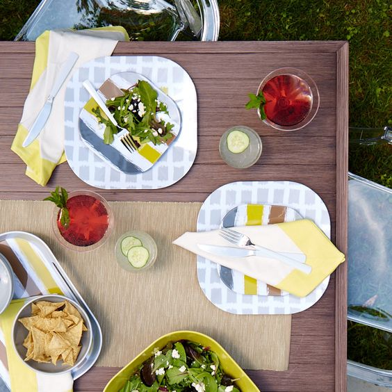 Invite these durable dish sets to dinner. They'll make a sleek impression.