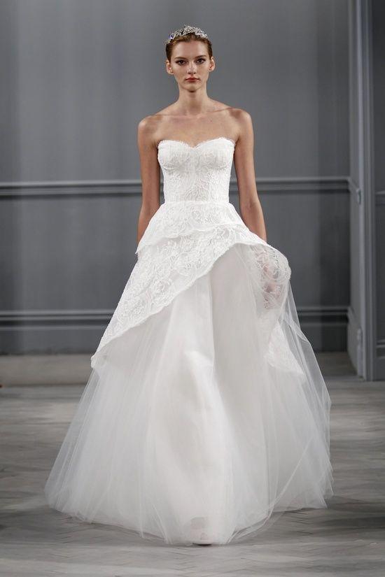 Monique Lhuillier e sua Coleção para noivas Primavera de 2014 #vestido #noiva