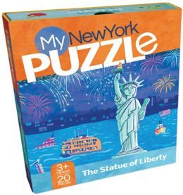 My New York Puzzle: The Statue of Liberty: Statue, Familiar Scenes, Box, Bright Colors