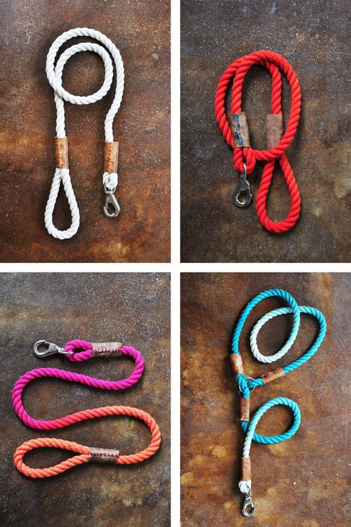 DIY Rope Dog Lead Project by 1 Dame, 2 Dogs, 3 Designs