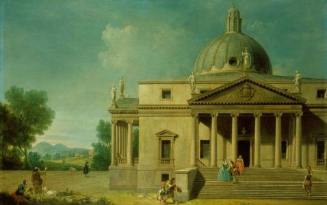 Capriccio with a view of Mereworth Castle, 1746