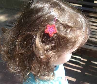 crochet flower for her hair: Crochet Flowers, Craft Flowers, Crafts Crochet, Sew Crafty, Diy Crafts, Hair, Headed Star
