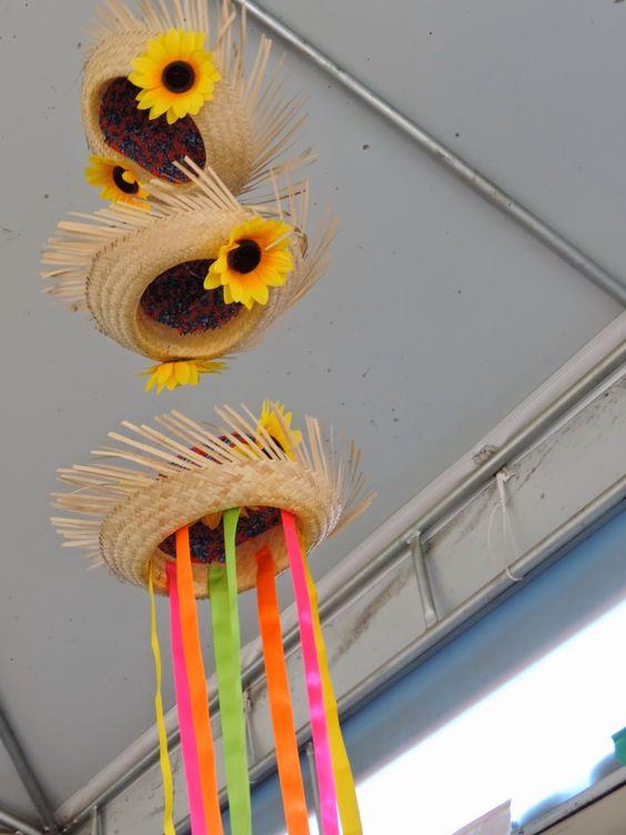 decorando com chapéu de palha