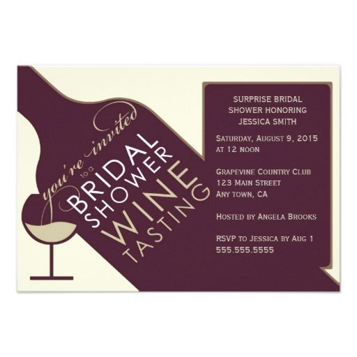 Vintage wine themed bridal shower invitations bridal for Bridal shower email invitations