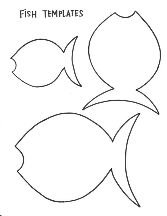 Fish template bulletin board arts and crafts for Printable fish template