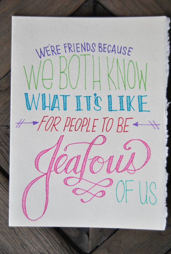 We're Friends Because...  Greeting Card by Gaytionery on Etsy, $10.00