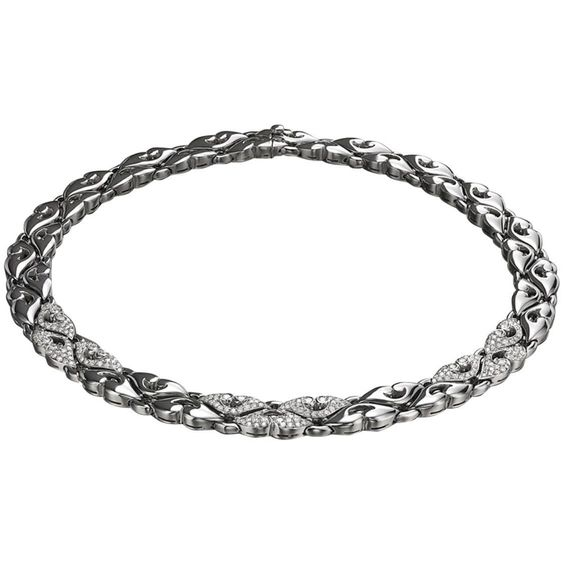 """Bulgari """"Nuvole"""" Collection Diamond Platinum Necklace 