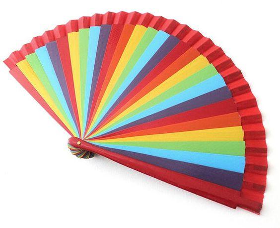 HandfächerhandfanAbanicoFächer in multicolor von pinkmagnolia2303