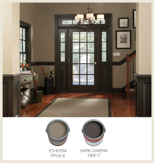 Picking interior trim color for the home pinterest for Light brown interior paint