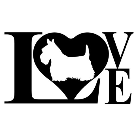 Dog Love Scottish Terrier Decal Sticker – Pete's Pet Store