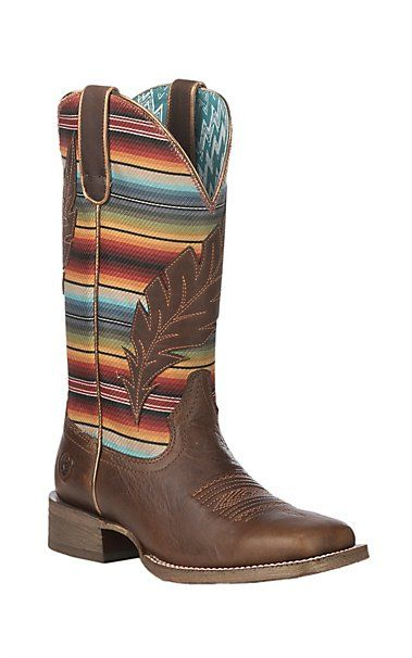 Ariat Women's Circuit Feather Autumn Tan with Serape Print