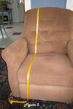 Recliner Slipcover Tutorial