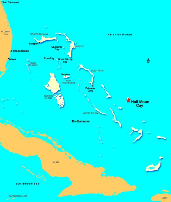 The Bahamas Map Of Islands