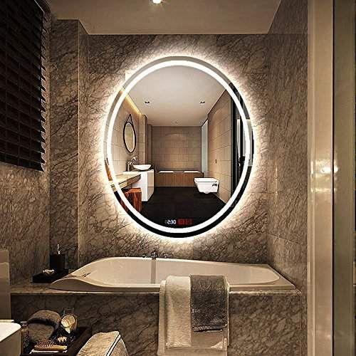 500x700mm Led Illuminated Bathroom Mirror Light Make Up Dressing Wall Mounted Explosion Proof Mir Bathroom Mirror Lights Bathroom Mirror Round Mirror Bathroom
