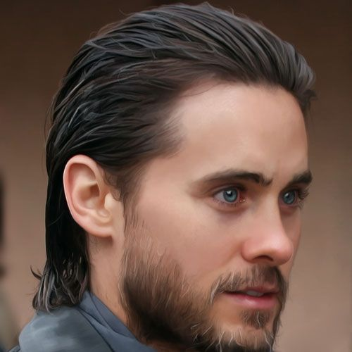 Best men hairstyles 2021, Semi-long and Slicked Back