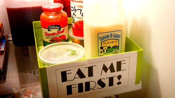 Create a Fridge Triage Box to Save a Ton of Wasted Food Every Month: for ideas of what to put in the box first, read http://lifehacker.com/5877563/create-a-fridge-triage-box-to-possibly-save-over-100-month-in-wasted-food