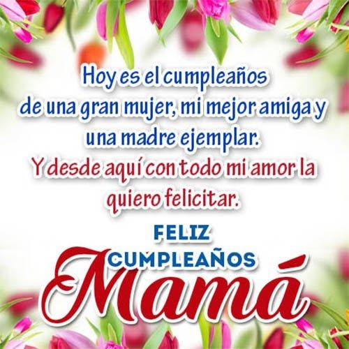 Poemas Carta De Cumpleaños Para Mi Madre Madres Happy Birthday Mom Images Happy Birthday Cards Happy