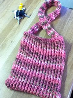 bag using Knifty Knitter: