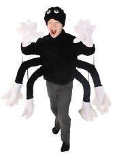 Spider Costume Top and Hat Velvet like material Child Fancy Dress