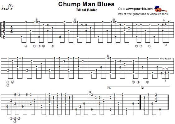Chump Man Blues  Fingerstyle Guitar Tab  Guitar Tab