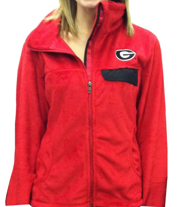 Full-zip Georgia silken fleece jacket. Fits true to size. $39.99 ...